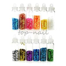 12 Bottles Nail Art Resin 3D Powder Multi-Color Decorations Jewelry ZP096