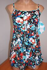New Swim Solutions Swimsuit 1 one piece Size 14 Attached Dress Pet Gardn MLT