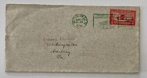1928 2c Fancy Green Cancel International Civil Aeronautics Conference Washington