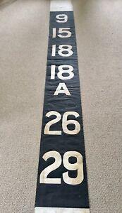 Vintage Bus Destination Blind Numbers Complete Glasgow Industrial Design