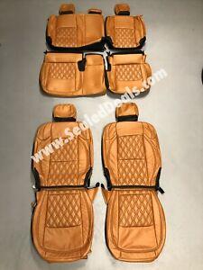 Jeep Gladiator Sport Overland Custom Autumn w/ Diamond Leather Seat Covers