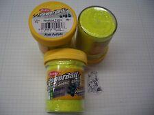 Berkley Power Bait Trout Bait Glitter Suns.Yellow Pellets 3x50g-Glas 100g/6,66€