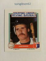 1988 Starting Lineup Talking Baseball Wade Boggs #18 Free Shipping