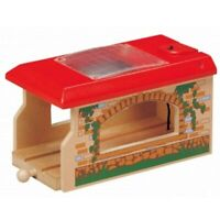 Single Engine Shed for Wooden Railway Train Set 50938 - Brio Compatible