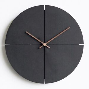 Wooden Wall Clock Nordic Minimalist Living Room Personality Household Watches