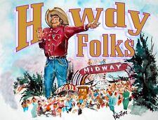 "Big Tex midway ""Howdy Folks"" T-Shirt"