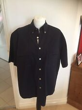 CAMEL TROPHY MENS NAVY BLUE SHORT SLEEVED ADVENTURE SHIRT - SIZE LARGE