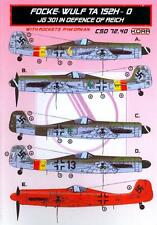 KORA Decals 1/72 FOCKE WULF Ta-152H-0 JG 301 REICH DEFENCE with Resin Parts