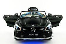 Mercedes CLA45 12V Kids Ride-On Car with R/C Parental Remote | Black Metallic