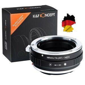 KF Adapter Sony A mount / Minolta AF Objektiv auf Sony E NEX 3 5 6 7 a6000  a7