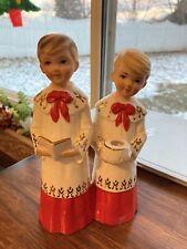 """Vintage Christmas Schmid Brothers Japan Choir Boys 7.5"""""""