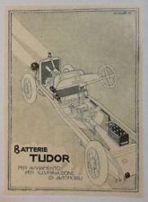 Pubblicità epoca 1921 BATTERIE TUDOR AUTO advertising publicitè reklame werbung