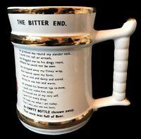 Vintage The Bitter End Mug Tankard Prince William England 22 Carat Gold Home Bar