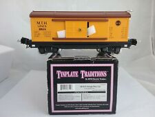 MTH O Scale Tinplate Traditions Orange/Brown Car 10-8018 #2814
