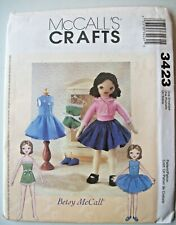 McCall's Crafts Pattern 3423   RETRO BETSY McCALL DOLL AND CLOTHES    Uncut