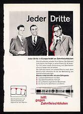 3w1064/vieja publicitarias-de 1960-crema dental Blend-A-MED