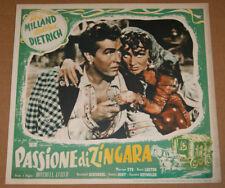 fotobusta film GOLDEN EARRINGS -PASSIONE DI ZINGARA Marlene Dietrich Ray Milland