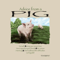 Pig T-shirt S M L XL 2XL Gildan Advice Cotton Unisex NWT NEW Farm Bacon Pork Fun