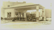 FILLING STATION FOLEY, MINN SINCLAIR PUMP & SIGN -BOYS ON CURB -BIKE....