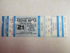 STEVIE NICKS CONCERT TICKET 10.21.1983 WILD HEART TOUR FLEETWOOD MAC COLLECTIBLE