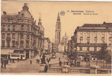 CPA BELGIQUE BELGIUM ANVERS 10 canal au sucre tramway cigarillos galba timbrée