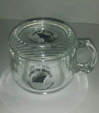 Port of Mobile Alabama State Docks Clear Plastic Mug Coffee Cup with Lid Coaster
