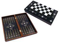 Star Tavla Sedef Backgammon Dame Tavli Familie Reisespiel  50x48x7cm mit Fehler