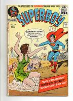 Superboy  Vol 1 No 179 Nov 1971 (VG+ to FN-) DC Comics, Bronze Age (1970 - 1979)