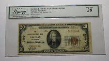 $20 1929 Salinas California Ca National Currency Bank Note Bill Ch. #13380 Vf20