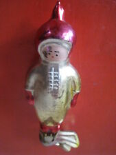 Org.1960 USSR Cosmonaut Old Soviet СССР Russian Christmas Ornament Big GLASS BUL