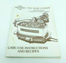 West Bend Slow Slo Cooker Replacement Care / Use  Booklet Vintage 1985