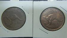1964 Australian Penny, rotated die