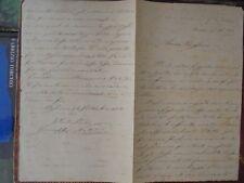 (Autografo) Lettera del Barone Giuseppe Natoli  patrizio di Messina 24/9/1863