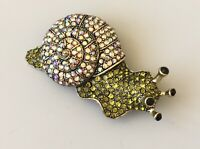 Vintage style snail brooch Pin in  gold  tone metal