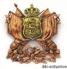 Plaque à vis d'Officier Armée Danois/ Dansk hærofficers plade XIX°s. Bronze