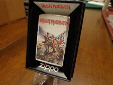 IRON MAIDEN MASCOT EDDIE CARTOON ZOMBIE UNION JACK ZIPPO LIGHTER MINT 2016
