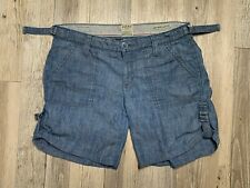 Lucky Brand Women's Size 4 / 27 Mid Rise Easy Fit Blue Cargo Shorts  GREAT CLEAN