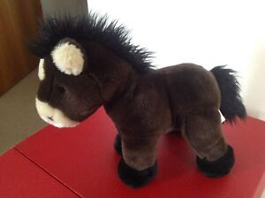 Vintage Chad Valley  Brown Plush Horse/Pony Soft Toy 26cm VGVC