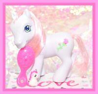 ❤️My Little Pony G3 2006 Desert Rose Crystal Slipper Princess White Pink Rose❤️