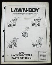 Lawn Boy 1990 Snowblowers Parts Catalog 55381A 55382A 55379 55380 55383A 55384A