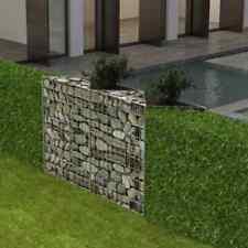 "vidaXl Gabion Basket 47.2""x11.8""x39. 4"" Patio Planter Raised Vegetable Bed"