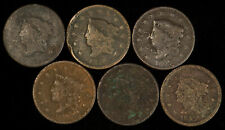 Lot of 6 Early U.S. Large Cents - Legible Dates - SKU-Y2054