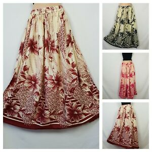 Boho Floral Summer Printed Casual Lightweight Holiday Skirt One Size 8 10 12 14