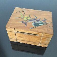 Tirelire Ancienne 1900 Souvenir Pornic  Décor Pensée Antique French Money Box