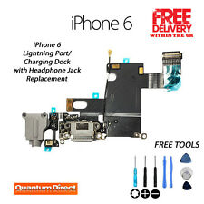 BLACK Replacement Charging Dock/Port Assembly + Headphone Jack FOR iPhone 6 4,7""