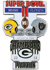 Super Bowl 2 II Green Bay Packers vs Oakland Raiders Final Score Pin LARGE PSG