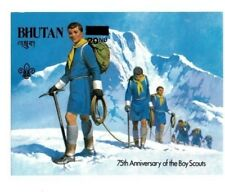 Bhutan 1982 20nu Revalue Boy Scouts Imperf Souvenir Sheet - MNH