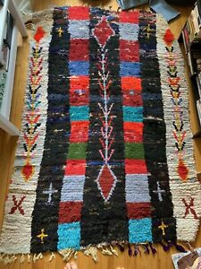 Vintage Moroccan Berber Rug Beni Ourain 5ft9x3ft11