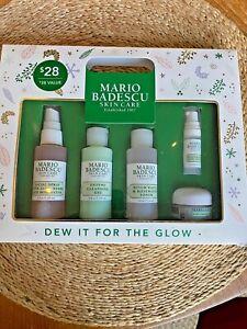 MARIO BADESCU - DEW IT FOR THE GLOW 5 PC SET - NIB - Facial Spray Dew Drops ++