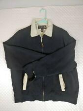 Nat Nast Luxury Originals black Zip up silk jacket sz medium